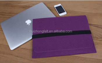 fashion syntheric polyester nonwoven felt laptop sleeves
