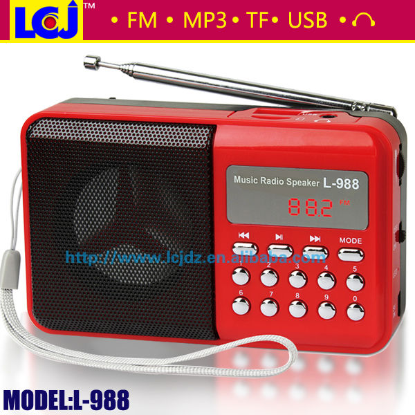 L-988 Hot mini speaker mp3 player with fm radio
