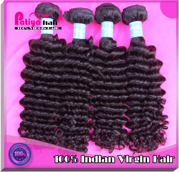 Best quality full ends virgin curly natural Indian hair 100 human hair weave deep curl brands for sale