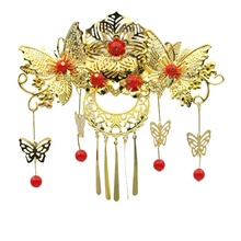 Chinese bridal wedding hair accessories retro tradition crown tiara