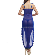 Newest Charming Hot Sexy Long Night Dress Mesh Transparent Cute Sexy Lingerie for Women