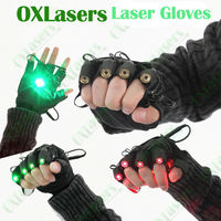 OXLasers green laser gloves with 5 pcs green lasers for pub show DJ pub party with palm light