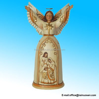 Ivory and Gold Nativity Angel 7.25 Inch