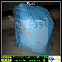 35l plastic drawstring garbage bag