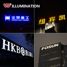 multi-color digital led building signs