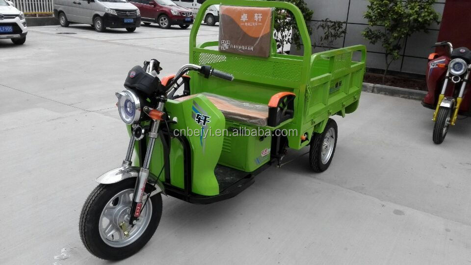 2016 new designed hot sale 60V Small Electric cargo three wheel motorcycle Tuk Tuk for sale bangkok