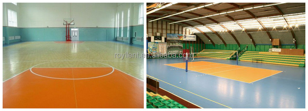 Anti-slip epoxy resin flooring portable outdoor basketball court flooring