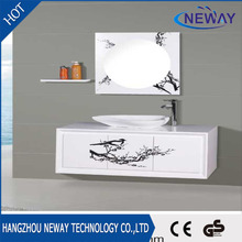 High quality wall mounted pvc bath vanity with top