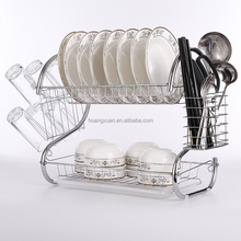 stainless steel kitchen cabinet plate rack dish rack factory