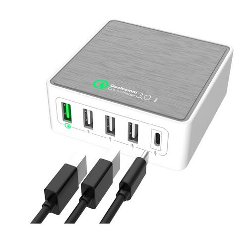 4 port QC 3.0 Type-c charger,usb cell phone charger QC 3.0,oem phone charger quick charge 3.0