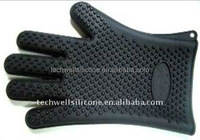 food grade heat resistant five fingers silicone oven mitt