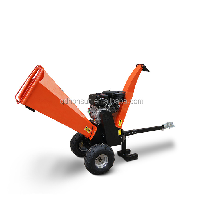 Manufacturer factory direct Honda gas engine wood chipper machine industry cheap mini garden shredder