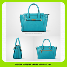 15628 fashionable leather handbag for lady with 1 zipper secret pocket & 1 phone pocket & 1 ID card/receipts pocket