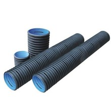 "HDPE Plastic 24 inch 600 mm 200mm 8"" Black Perforated Large Diameter Corrugated Drainage Pipe"