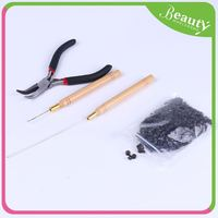 Beads loop tool for hair extension ,H0Tmxy hair extension tool kit