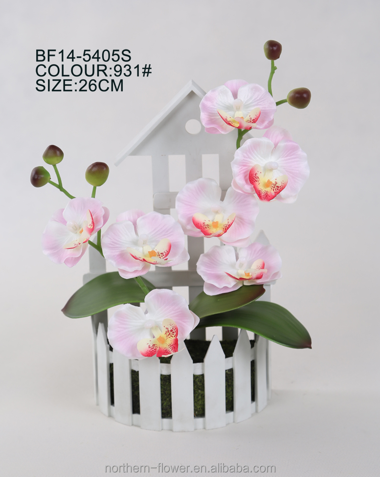 Real looking Wedding decoration orchid artificial flower, artificial orchid wall hanging flower