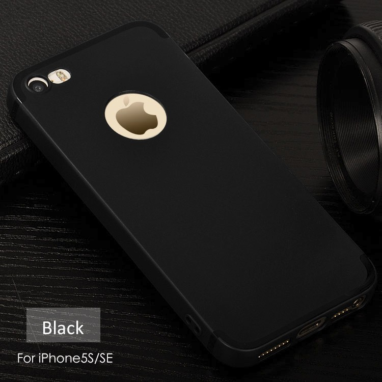 DFIFAN Matte black cover case for iphone 5s se,Soft tpu for iphone 5 cover