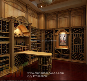 custom made European style classical wine cellar
