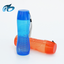wholesale promotional plastic HDPE joyshakes sports glass water drinking bottle