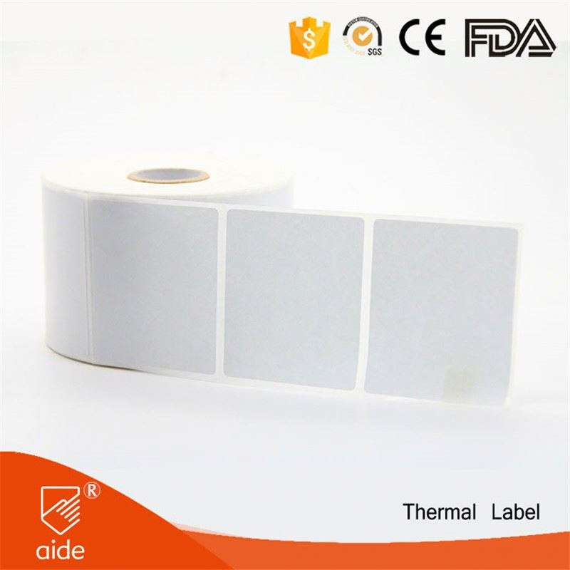 OEM And ODM Waterproof Custom Remove Plain Thermal Paper Barcode Adhesive Sticker Label Plastic