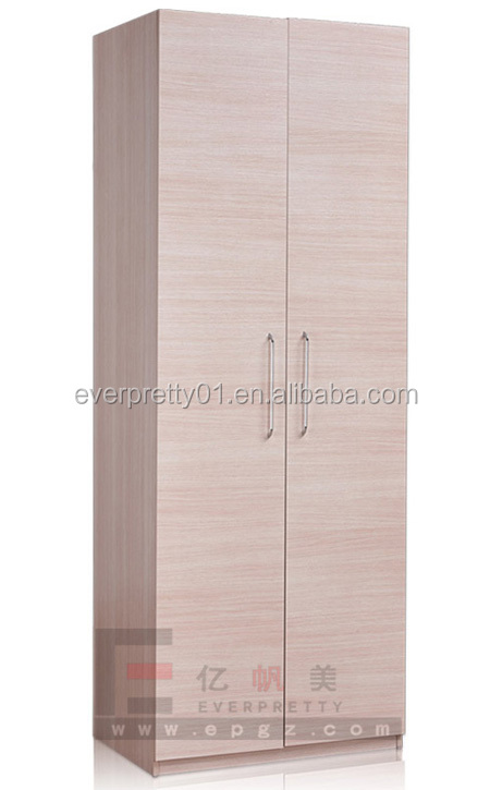 2 Doors Wooden Wardrobe Bedroom Furniture Set