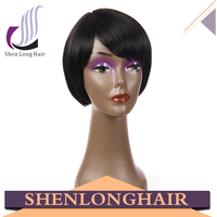 100% futura synthetic straight hair wig, wholesale cheap short straight synthetic hair wigs