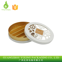Guangzhou Factory Wholesale Laser Engraving Round Shape Chocolate Paper Box