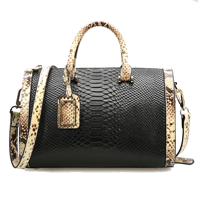 Boston pillow alligator patchwork serpentine leather handbags women messenger bags ladies shoulder crossbody bag bolsa CB-027