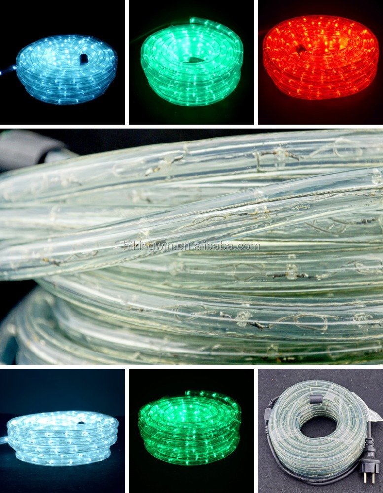 AC85~265V Duralight chasing color changing car waterproof IP65 multicolor led rope light for wholesale