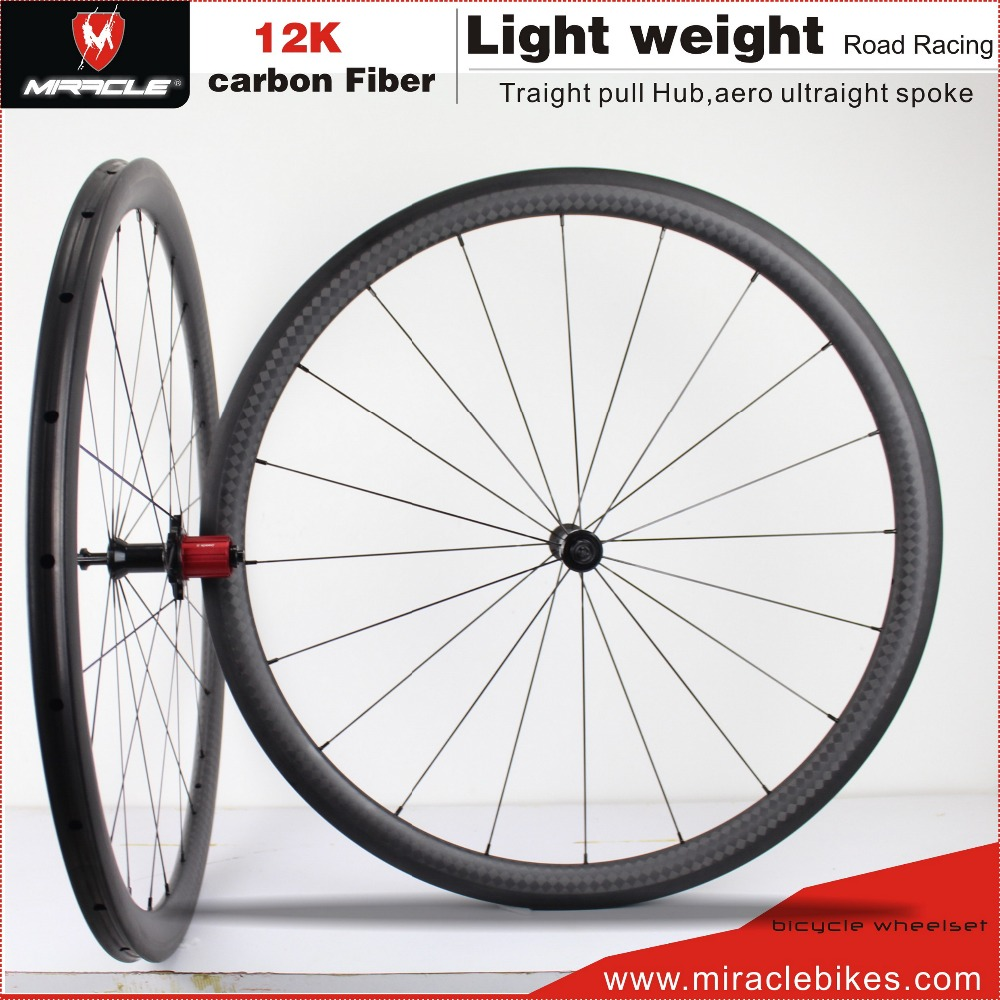 Road Bicycle Super Light Carbon Fiber Wheelset,Road Bike Wheelset Carbon 700*38C