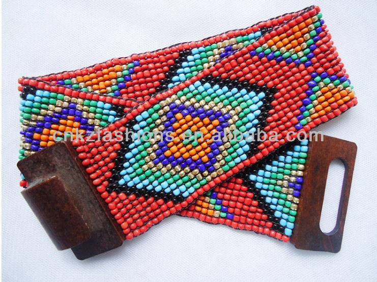2013 fashion colors 7.5CM custom elastic beaded belt