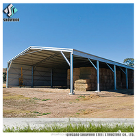 Low cost warehouse construction shed steel frame sports hall structure