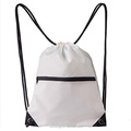 white color Drawstring Backpack Bag / gift bag