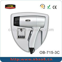 Wall Mounted Hot and Cold Air Hair Dryer for Hotel CD-715-3C