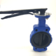 DN100 Ductile Iron body EPDM Plate EPDM Seat No Pin handle Actuator wafer keystone butterfly valve price list