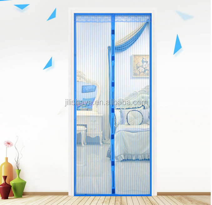 The Summer Anti Mosquito Insect Fly Bug Curtains Magnetic Screen door with 100% polyester Mesh Net
