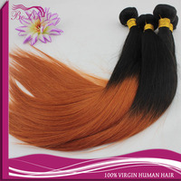 Bolin hair high quality Malaysian human virgin hair straight double strong wefts 1b /350 color ombre human hair weave