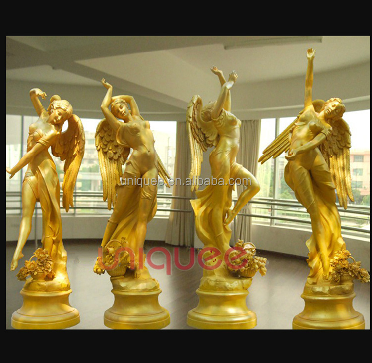 bronze angel statue gold dancing angel statue