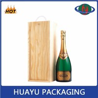 Factory price wooden wine packaging box wholesale
