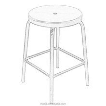 Cheap Black Plastic Esd Cleanroom Stool Lab Stool With Four Feet
