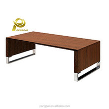 simple modern design stainless steel touch screen wood coffee table