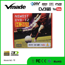 Vmade High speed H.265 Car dvb t2 digital tv receiver supporting up to 220KM/H in Germany, 130km/h in other countries