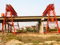 launching highway bridge girder QM70-30-22 double truss girder portal jib gantry crane