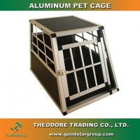 LARGE DOG CAGE CRATE PET PUPPY FOLDING aluminum METAL CAGE CARRIER HANDLE TRANSPORT Pet Dog Cat Crate Kennel Cage & Bed Pad
