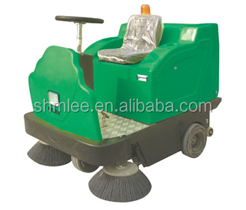 high-grade villa area semi closed ride on linoleum road sweeper with lead acid battery free of maintenance MLEE-1360