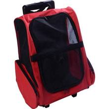 Backpack dog travel Pet Carrier with trolley Pet Carrier Dog Backpack Luggage Box w/ Wheels