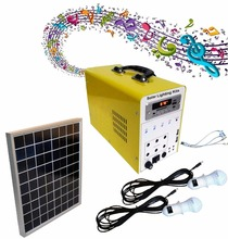 pay as you go portable DC solar kits 30W solar lighting system with remote control