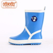 Bleu rain boots kids lovely dogs rubber boots