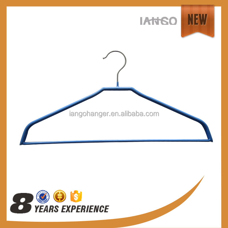 Competitive price cheap pvc coated metal clothes hanger