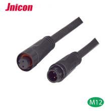m12 waterproof a code 4 contacts magnetic connector ip68 ip67-m12-4contacts wire connectors ip67